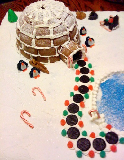 Christmas gingerbread igloo