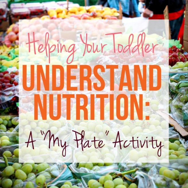 Helping Your Toddler Understand Nutrition - A My Plate Activity