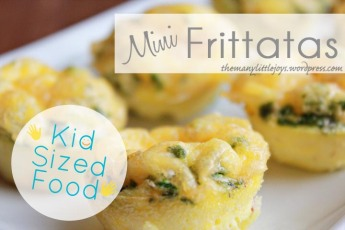 Kid Sized Food - Mini Egg Fritatas. Easy, protein-packed and veggie-filled breakfast perfect for little hands.