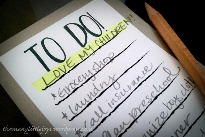 To Do List - Love My Children
