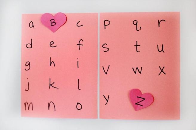 Valentine's Alphabet Hunt 3