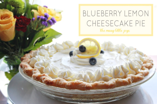 This amazing blueberry lemon cheesecake pie is a perfect balance of tart and sweet. Perfect for spring or summer entertaining.
