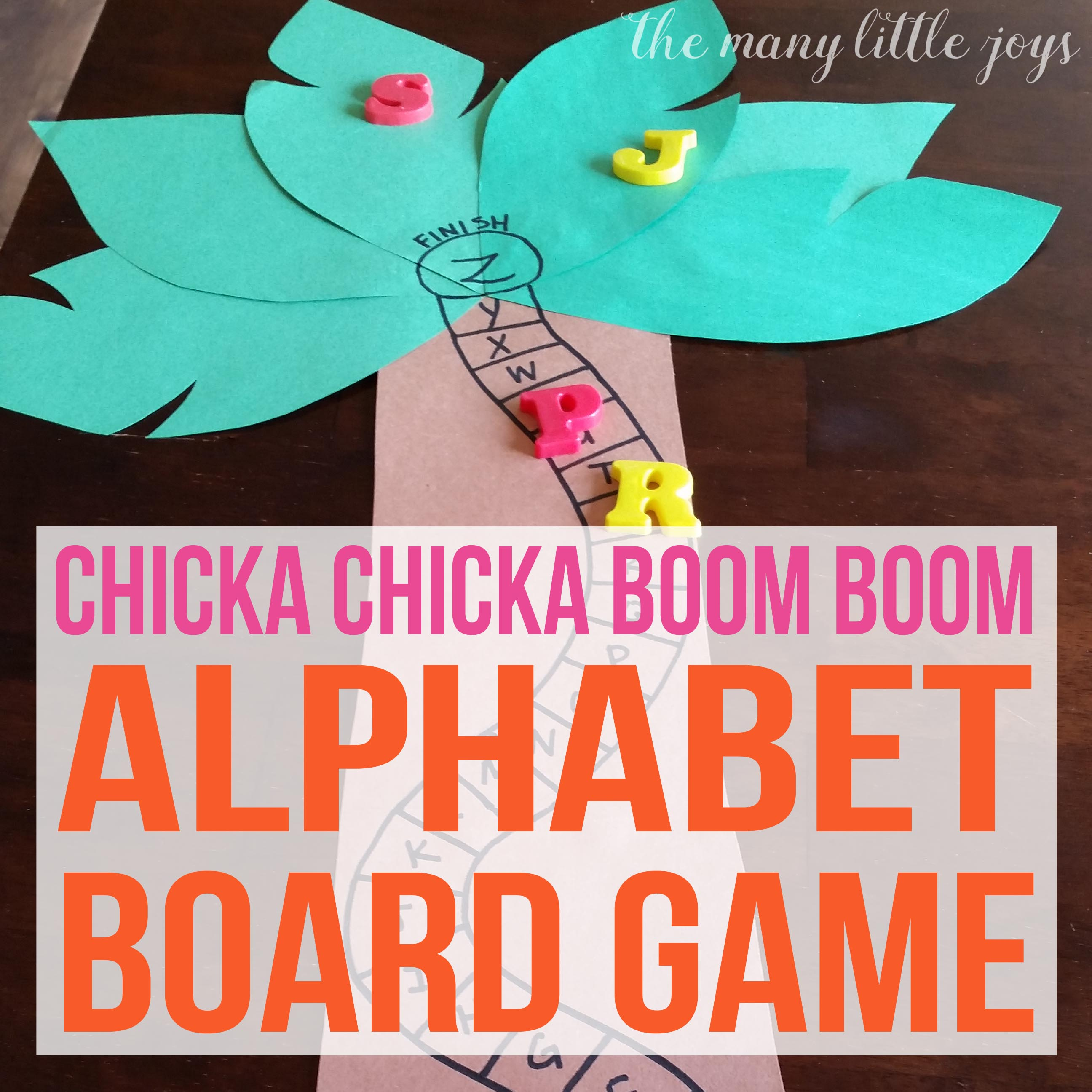 Chicka Chicka Boom Boom Alphabet Game | The Many Little Joys - photo#35